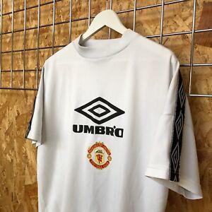Manchester United Umbro 90's Training Shirt - Size M Medium - Top Kit Jersey VTG