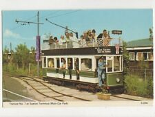 Tramcar At Seaton Terminus Devon Postcard 639a
