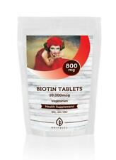 Biotin 10,000mcg B7 235mg 30-60-90-120-180-250-500-1000 Tablets UK