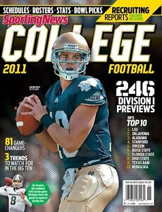 Notre Dame Sporting News College Football '11 Magazine Dayne Crist