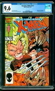 Uncanny X-Men 213 CGC 9.6 NM+ Wolverine vs Sabretooth Psylocke Alan Davis cover