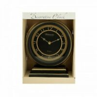 Kole Decorative Black & Gold Mantle Clock
