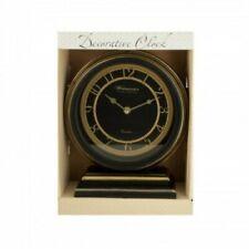Kole Decorative Black & Gold Mantle Clock