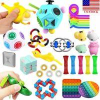 5-25pcs US Fidget Toys Set Sensory Tools Bundle ADHD Stress Relief Kids Adults