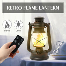 Classical LED Portable Remote Control flame lamp retro Candlestick Outdoor