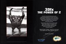 3Dfx: The Power of 2 - VOODOO 2__Original 1998 Print AD / Graphics promo advert
