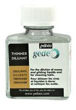 Pebeo Gedeo Plus Mince Diluant pour Dorure Cire & Brosse de nettoyage bouteille 75 ml