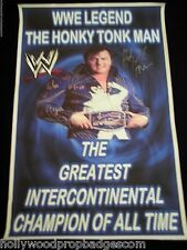 Rare WWE HONKY TONK MAN Autographed BANNER W/COA From HTM