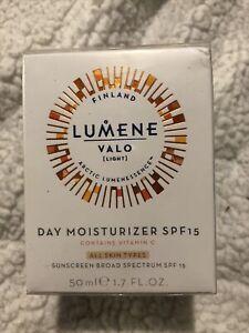 LUMENE • Valo [LIGHT] NORDIC-C. Day Moisturizer SPF 15  Vitamin C 1.7 SEALED Jar