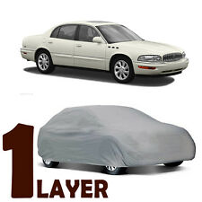 TRUE 1 LAYER GRAY FITTED CAR COVER OUTDOOR WATER RESISTANT for BUICK PARK AVENUE