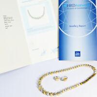 Collier Set mit Ohrringen Platin 950 Gold 750. HRD Antwerp Zertifikat. Neu.