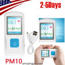 Pm10 Portable Ecgampekg Machine Heart Beat Monitor Usb Bluetooth Lcd Fdace Home