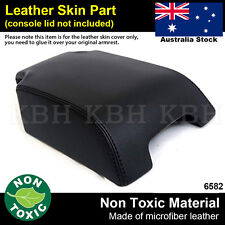 Leather Armrest Console Lid Cover Fits Land Rover Discovery LR3 LR4 06-16 Black