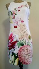 Ted Baker dress pink julee encyclopedia floral bodycon size 4