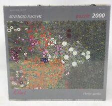 """2000 PIECE Gustav Klimt """"Flower Garden""""  ART STONES JIGSAW PUZZLE~NEW"""