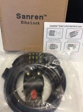 New SANREN Bike 4-Digit Combination Security Cable Lock 4 Ft Bicycle Heavy Made