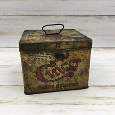 Vintage Cinco Handy Humidor Tobacco Tin Otto Eisenlohr Bros Cigar Box