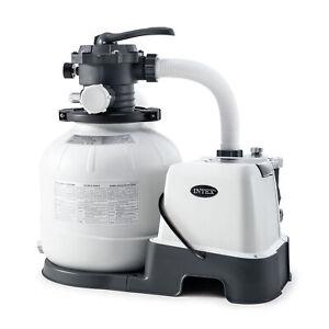 Intex 26675EG 14 Inch Krystal Clear Pool Saltwater System and Sand Filter Pump