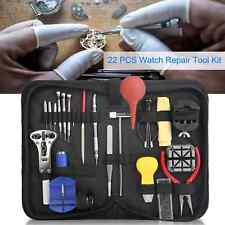 21PCS Watch Repair Tool Kit Case Opener Spring Bar Tool-Hand Remover w/ Zip Case