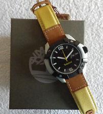 Timberland UOMO TBL. 1332 JPGYB/02 Chocorua Cinturino Pelle Watch Rrp £ 129-NUOVO