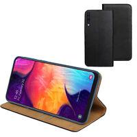 ECHT LEDER Hülle für Samsung Galaxy A50 DuoS SM-A505F/DS Buch Schutz Tasche