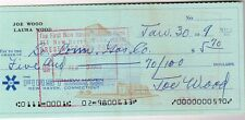 Smokey Joe Wood Signed Check Boston Red Sox HOF/ Cleveland Indians/ COA