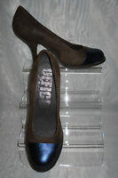 OFFICE LONDON WOMENS Brown/Black Leather/Suede High Heels Court Shoes Size:6/39