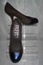 WOMENS OFFICE LONDON Brown/Black Leather/Suede High Heels Court Shoes Size:6/39