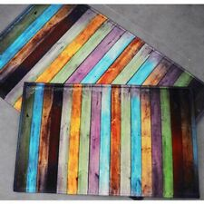 Non Slip Door Floor Mat Rug Indoor Outdoor Color Stripe Washable Home Kitchen US