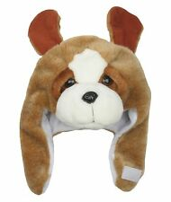 Jiglz Childs Plush Animal Hat Brown Dog 56 Cm