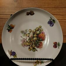 Toscport Plate from Czechoslovakia with strawberries 7 inches no chips or cracks