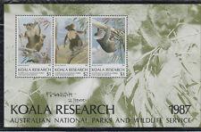 Koala Research Australian National Parks & Wildlife mini sheet number 2 signed