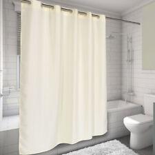 "EZ On Hookless Fabric Shower Curtain Waffle Weave 70""x75"" Ivory"