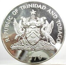 TRINIDAD AND TOBAGO (5 Dollars 1976) Silver PROOF
