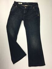 "BANANA REPUBLIC Women's Jeans size 04 Blue Denim waist= 30"" Stretch Wide Leg"