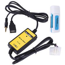 Coche Aux-en Adaptador USB MP3 Radio Audio Interfaz para Toyota Camry Corolla