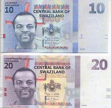 A SAISIR    LOT DE  2  X  BILLETS     SWAZILAND     NEUF    !!!!