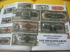 MEXICO CURRENCY~REPUBLICA MEXICANA BY DECREE 1915~X FINE SET OF 4 NOTES~CIRC