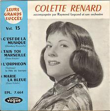 """COLETTE RENARD """"C'EST DE LA MUSIQUE"""" EP 60'S VOGUE 7.664"""