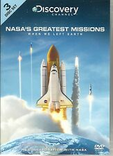NASA'S GREATEST MISSIONS - 3 DVD BOX SET  DISCOVERY CHANNEL - WHEN WE LEFT EARTH
