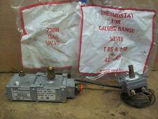 VINTAGE Caloric & Gaffers T85a100 &73895 Millvolt gas valve &thermostat 2 left
