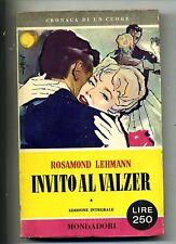 Lehman # INVITO AL VALZER # Mondadori 1956 1A ED.