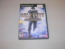 CALL OF DUTY WORLD AT WAR FINAL FRONTS (Playstation 2 PS2) Complete