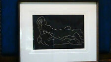 RECLINING NUDE SIGNED MODERNIST LITHOGRAPH