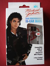 "MICHAEL JACKSON ""BAD"" EAR BUDS COMPATIBLE W/ IPOD IPHONE MP3  HIGH PERFORMANCE"