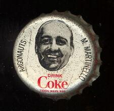 1965 COKE CAPS COCA-COLA CAP + CORK CFL FOOTBALL MARTY MARTINELLO ARGONAUTS EXNM