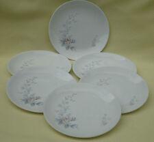 Pretty Johnson Bros England Side Plates x 6 *JB226 Pink Roses & Blue Grey Leaves