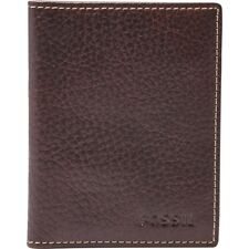 FOSSIL Men's Brown Leather LINCOLN Card Holder