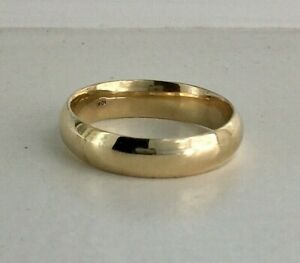 5MM 10K YELLOW GOLD MEN'S WOMEN'S BAND RING WEDDING ANNIVERSARY ENGAGEMENT 9-13