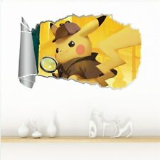 Detective Pikachu Wall Decal Decorative Sticker 22 x 13.5
